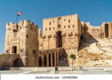 Entrance to Aleppo Citadel