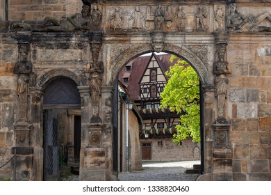 Entrance of the Alte Hofhaltung in Bamberg, Germany