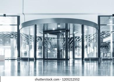 Entrance aluminum door, Interior decoration design.