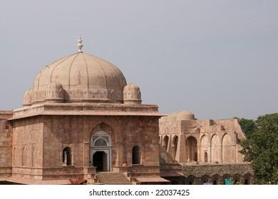 Entrance to the ancient mosque of Ashrafi Mahal Mosque, Mandu, Madya Pradesh. 15th Century AD