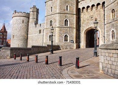 Entrance arch to Windsor Castle in the Royal County of Berkshire, England