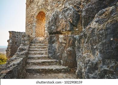 Entrance to the Asklipiou castle on Rhodes island