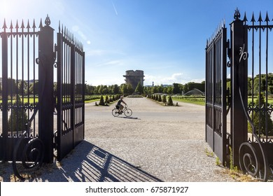 Entrance to the Augarten Park Vienna w