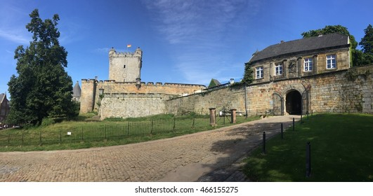 Entrance of the Bad Bentheim castle in Germany