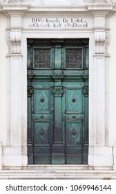 Entrance of the baroque church of Sant'Ignazio in Gorizia, Italy