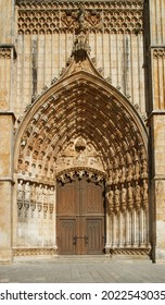 Entrance to the Batalha Monastery in Portugal