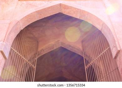 entrance to Baz Bahadur's palace in Madhya Pradesh