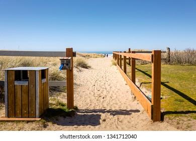 Entrance to beach access Canon Beach Oregon.