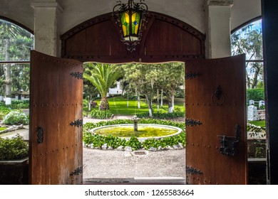 Entrance to a beautiful traditional hacienda