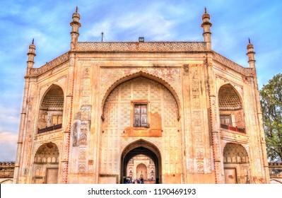 Entrance of Bibi Ka Maqbara Tomb, also known as Mini Taj Mahal. Aurangabad - Maharashtra, India