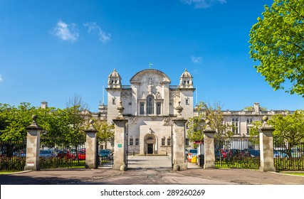 Entrance to Cardiff University - Wales, Great Britain