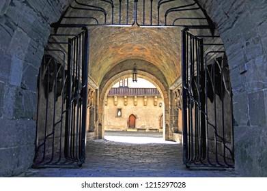Entrance to the castle of Zvolen city, Slovakia