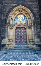 Entrance to the Cathedral of St. Peter and St. Paul in Vysehrad/Prague/Czech Republic