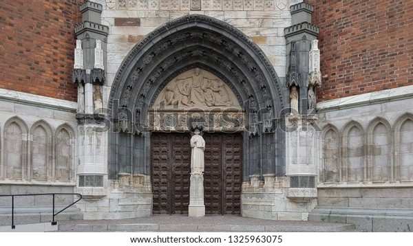 entrance to a Catholic Temple
