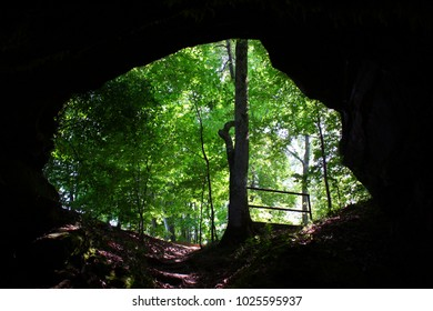 Entrance to Cave Spring along the Natchez Trace Parkway of Mississippi