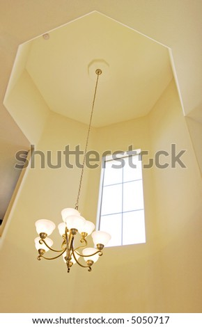 Entrance Chandelier On High Ceiling Stock Photo Edit Now 5050717