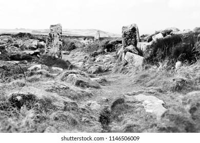Entrance to Chun Castle, Ancient Site near Pendeen, Cornwall UK
