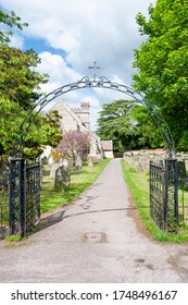 Entrance To A Church Cemetery In The UK