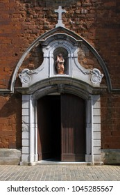 Entrance of the Church of Our Lady in Diest, Flanders, Belgium