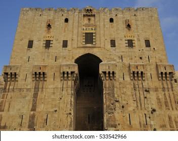 Entrance of Citadel of Aleppo, December of 2008