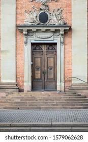 An entrance in city of Stockholm, Sweden