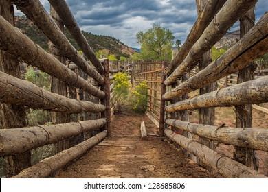 Entrance to corral, Grand Staircase Escalante National Monument, Utah