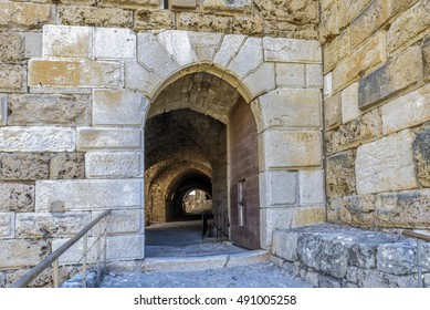 Entrance to a Crusaders castle in jubail (Byblos) Lebanon