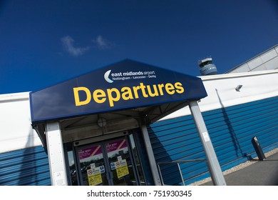 Entrance to Departure building at East Midlands Airport (Nottingham-Leicester-Derby) - East Midlands Airport - UK, 15th May 2016