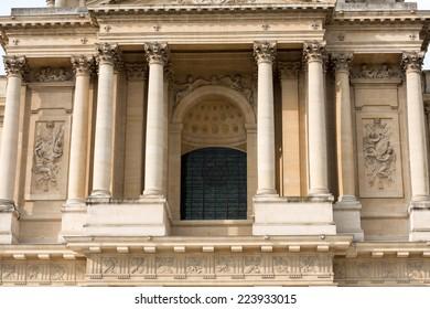 Entrance  of Dome des Invalides, burial site of Napoleon Bonaparte, Paris, France