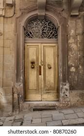Entrance door of an antique building