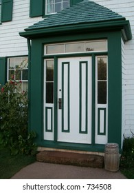 entrance door to old house