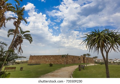 The entrance doors to the Fort Frederick built in 1800's in Port Elizabeth, South Africa