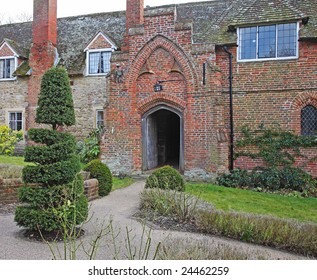 Entrance doorway to Ancient English Alms Houses