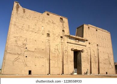 Entrance to Edfu, Temple of Horus, Egypt