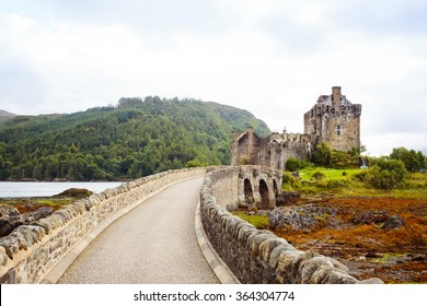 Entrance to Eilean Donan Castle, Scotland.