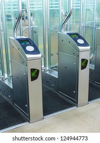 Entrance of an European subway station