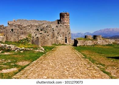 Entrance to the fort, Shkoder, Albania