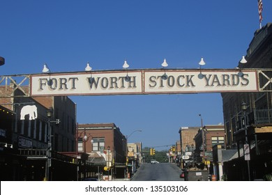 Entrance to Fort Worth Stockyards, Texas
