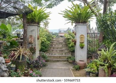 entrance of garden fence