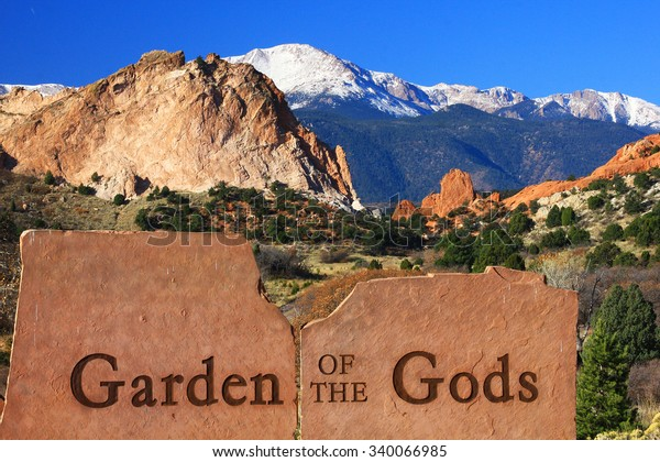 Entrance Garden Gods Colorado Springs Stock Photo (Edit Now