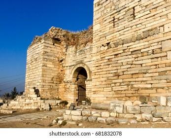 Entrance Gate of Ayasoluk Castle in Selcuk near Ephesus in turkey