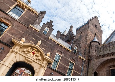 Entrance gate of the Binnenhof in The Hague, the seat of the Dutch parliament, tilted