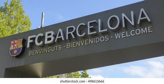 Entrance gate to Camp Nou in Barcelona - FC Barcelona - BARCELONA / SPAIN - OCTOBER 5, 2016