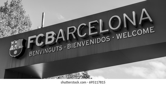 Entrance gate to Camp Nou in Barcelona - FC Barcelona - BARCELONA / SPAIN - OCTOBER 2, 2016