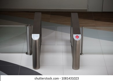 Entrance gate card Access Security system in office building
