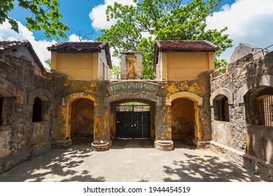 Entrance gate to the Con Son Prison Museum On Con Dao Island In Vietnam.