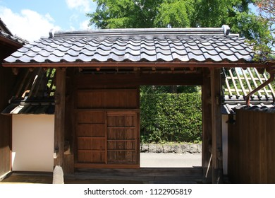 The entrance gate of an old Japanese house