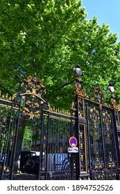 Entrance gate to Parc Monceau in Paris