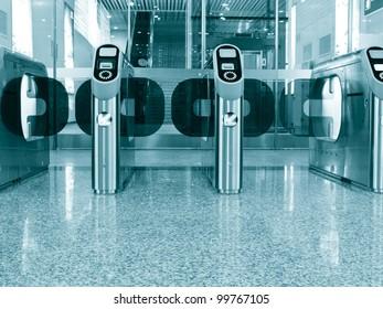 Entrance Gate at subway station