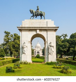 Entrance gate at Victoria Memorial, it is a british building in Kolkata, West Bengal, India.